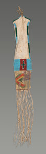 American Indian Art:Beadwork and Quillwork, A Sioux Beaded Hide Tobacco Bag . c. 1870...