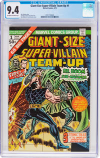 Giant-Size Super-Villain Team-Up #1 (Marvel, 1975) CGC NM 9.4 Off-white to white pages