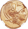 Ancients:Greek, Ancients: MACEDONIAN KINGDOM. Alexander III the Great (336-323 BC). AV distater (23mm, 17.20 gm, 7h). NGC Choice AU ★ 5/5 - 4/5, F...