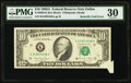 Error Notes:Foldovers, Butterfly Fold Fr. 2028-K $10 1988A Federal Reserve Note. PMG VeryFine 30.. ...
