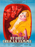 "Movie Posters:Foreign, And God Created Woman (Cocinor, 1956). Full-Bleed French Grande(46"" X 62"") Rene Peron Artwork.. ..."