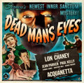 "Movie Posters:Horror, Dead Man's Eyes (Universal, 1944). Six Sheet (79"" X 80"").. ..."