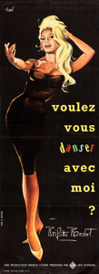 "Movie Posters:Foreign, Come Dance with Me! (UFA - Sofradis, 1959). French Pantalon (22.5""X 62"") Clement Hurel Artwork.. ..."