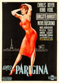 "Movie Posters:Foreign, La Parisienne (Cineriz, 1958). Italian 4 - Fogli (55"" X 77"") Giorgio Olivetti Artwork.. ..."