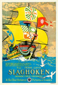 "Movie Posters:Swashbuckler, The Sea Hawk (First National, 1924). Swedish One Sheet (24.5"" X 35.5"").. ..."