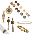 Estate Jewelry:Lots, Multi-Stone, Mabe Pearl, Coin, Enamel, Gold, Sterling Silver Jewelry . ... (Total: 12 Items)
