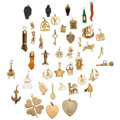 Estate Jewelry:Lots, Multi-Stone, Gold Charms . ... (Total: 45 Items)
