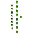 Estate Jewelry:Unmounted Gemstones, Unmounted Diopside  The lot includes seventeen...