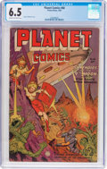 Golden Age (1938-1955):Science Fiction, Planet Comics #68 (Fiction House, 1952) CGC FN+ 6.5 Cream tooff-white pages....