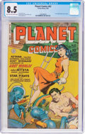 Golden Age (1938-1955):Science Fiction, Planet Comics #62 (Fiction House, 1949) CGC VF+ 8.5 Light tan tooff-white pages....