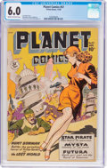 Golden Age (1938-1955):Science Fiction, Planet Comics #57 (Fiction House, 1948) CGC FN 6.0 Cream tooff-white pages....