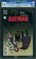 Modern Age (1980-Present):Superhero, Batman #404 (DC, 1987) CGC NM+ 9.6 WHITE pages.