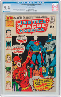 Justice League of America #89 (DC, 1971) CGC NM 9.4 Off-white to white pages