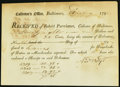 Colonial Notes:Maryland, Baltimore, (MD) Collector's Office $78.35 Aug. 27, 1798 About New.....