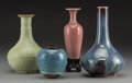 Asian:Chinese, Four Chinese Flambe and Jun Glazed Porcelain Vases. 7-5/8 incheshigh (19.4 cm). ... (Total: 4 Items)