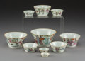 Asian:Chinese, A Ten-Piece Chinese Canton Porcelain Nesting Bowl Set, earlyRepublic Period. 2-3/8 inches high x 4-1/4 inches diameter (6.0...(Total: 10 Items)