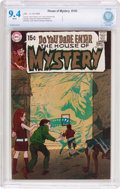 Silver Age (1956-1969):Horror, House of Mystery #183 (DC, 1969) CBCS NM 9.4 White pages....