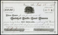 Obsoletes By State:Nevada, Virginia, NV - Society of Pacific Coast Pioneers Loan Receipt $10 Mar. 28, 1877. ...