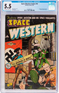 Golden Age (1938-1955):Science Fiction, Space Western #44 (Charlton, 1953) CGC FN- 5.5 Off-white to whitepages....