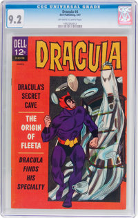 Dracula #4 (Dell, 1967) CGC NM- 9.2 Off-white to white pages