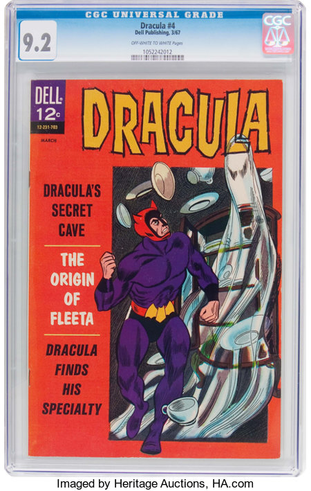 Dracula #4 (Dell, 1967) CGC NM- 9.2 Off-white to white pages....