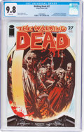 Modern Age (1980-Present):Horror, The Walking Dead #27 (Image, 2006) CGC NM/MT 9.8 White pages....