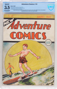 New Adventure Comics #18 (DC, 1937) CBCS Restored VG- 3.5 (Moderate Amateur) Cream to off-white pages