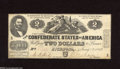 Confederate Notes:1862 Issues, T42 $2 1862. The only handling spotted on this Deuce is restrictedto the edges. Choice About Uncirculated....