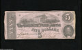 Confederate Notes:1862 Issues, T53 $5 1862. Some edge furling is noticed on this $5. Very Fine,CC....