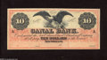 Obsoletes By State:Louisiana, New Orleans, LA- Canal Bank $10 18__ The National Bank Note Co. produced an exquisite note for this bank. Choice Crisp Un...