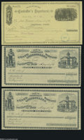 Obsoletes By State:Nevada, Carson City, NV- State Controller's Warrants 1880's Three Examples Each of these warrants were written on a different fund ... (3 items)