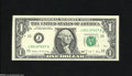Error Notes:Blank Reverse (<100%), Fr. 1914-J $1 1988 Federal Reserve Note. Crisp Uncirculated. Thiscrisp, well embossed KC Ace is missing almost three-quart...