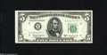 Small Size:Federal Reserve Notes, Fr. 1965-B* $5 1950D Federal Reserve Note. Gem New. With only 5 million printed this star is somewhat scarce and highly des...