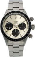 Timepieces:Wristwatch, Rolex, Ref. 6263 Oyster Cosmograph, (FAP) Peruvian Air Force,Stainless Steel, Circa 1974. ...