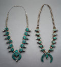 Jewelry:Necklaces, Two Zuni Squash Blossom Necklaces. c. 1950... (Total: 2 )