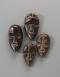 Tribal Art, Four Dan Carved Wood Masks... (Total: 4 Items)