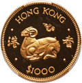 Hong Kong :British Colony, Hong Kong : British Colony. Elizabeth II gold Proof 1000 Dollars 1979 PR70 Deep Cameo PCGS,...