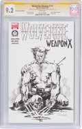 Original Comic Art:Sketches, Tom Raney Wolverine Weapon X #1 Hero Initiative EditionSketch Cover - Signature Series (Marvel, 2009) CGC NM- 9.2...