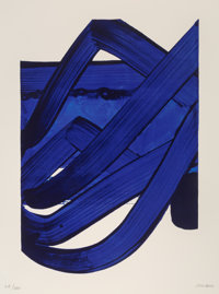 Pierre Soulages (b. 1919) Composition, from Official Arts Portfolio of the XXIVth Olympiad, Seoul, K