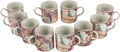 Asian:Chinese, Ten Chinese Canton-Style Porcelain Coffee Cups. 4 inches high (10.1cm). ... (Total: 10 Items)