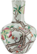 Asian, A Chinese Famille Rose Bottle Vase with Peach Motif, 20th century.21 inches high (53.3 cm). ...
