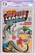 Silver Age (1956-1969):Superhero, The Brave and the Bold #28 Justice League of America (DC, 1960) CGCApparent VF- 7.5 Slight (A-1) Off-white to white pages....