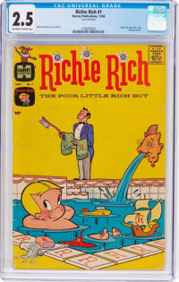 Richie Rich #1 (Harvey, 1960) CGC GD+ 2.5 Off-white to white pages