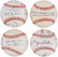 Autographs:Baseballs, Negro League-Related Multi-Signed Baseball Lot of 4.. ...