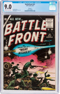 Golden Age (1938-1955):War, Battlefront #32 River City Pedigree (Atlas, 1955) CGC VF/NM 9.0Off-white to white pages....