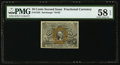 Fractional Currency:Second Issue, Fr. 1245 10¢ Second Issue PMG Choice About Unc 58 EPQ.. ...