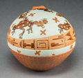 American Indian Art:Pottery, A Contemporary Santa Clara Polychrome Jar. Susan Folwell...