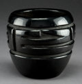 American Indian Art:Pottery, A Santa Clara Carved Blackware Bowl. Margaret Tafoya. c. 1980. ...
