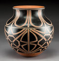 American Indian Art:Pottery, A Contemporary Cochiti / Santo Domingo Polychrome Jar . Lisa Holtand Harlan Reano...