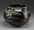 American Indian Art:Pottery, A Large Santa Clara Carved Blackware Jar . Camilio Tafoya. c.1965...